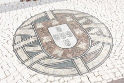escudo tile on plaza